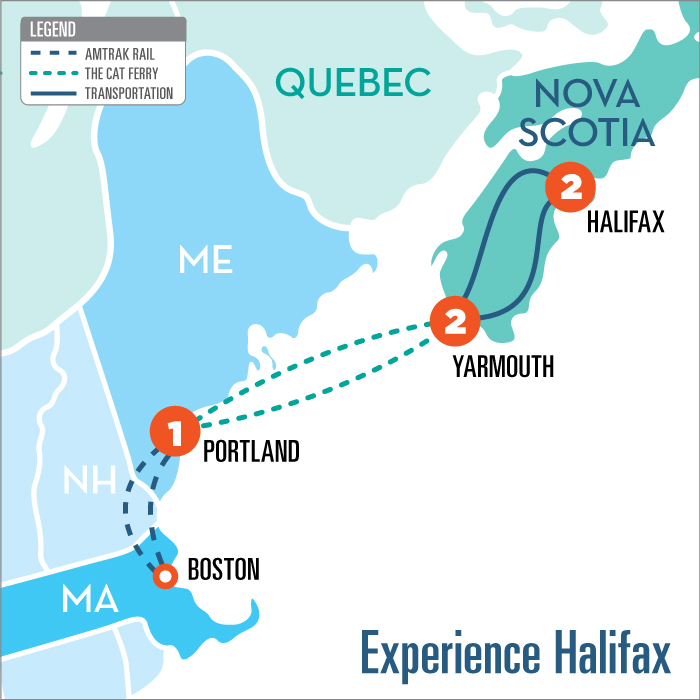 Amtrak Maine Map.Experience Halifax Nova Scotia With The Cat Ferry