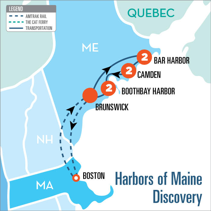 Amtrak Maine Map.Harbors Of Maine Discovery